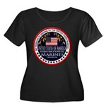 Marine Corps Husband Women's Plus Size Scoop Neck