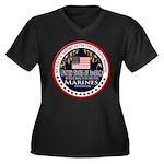 Marine Corps Niece Women's Plus Size V-Neck Dark T