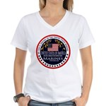 Marine Corps Son Women's V-Neck T-Shirt