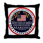 Marine Corps Uncle Throw Pillow
