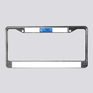 Save Your Ass License Plate Frame