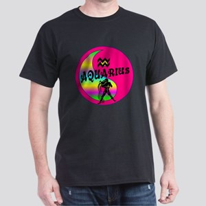 Aquarius Yin Yang /pink Dark T-Shirt