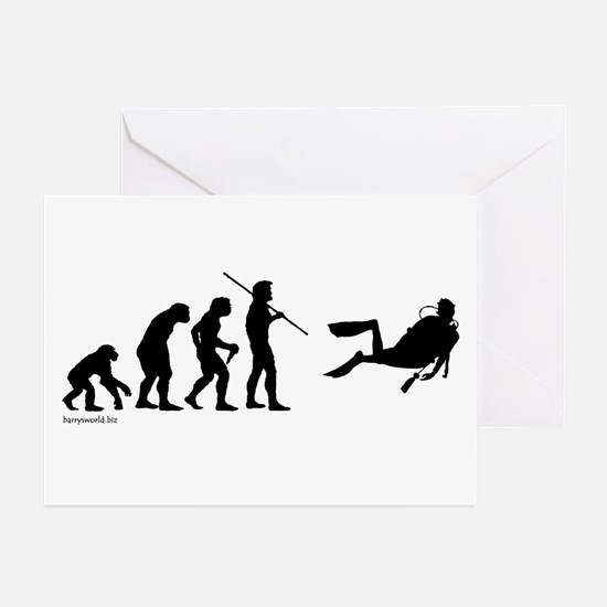 Scuba Evolution Greeting Cards (Pk of 20)