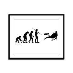 Scuba Evolution Framed Panel Print