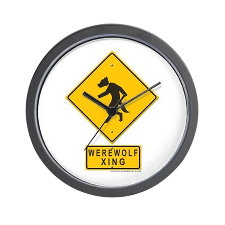 Werewolf XING Wall Clock
