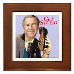 'Get Stupid' Framed Tile