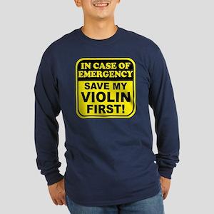Save My Violin Long Sleeve Dark T-Shirt