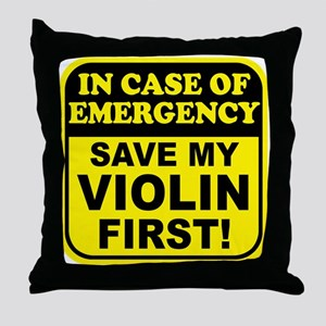 Save My Violin Throw Pillow