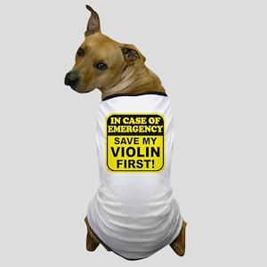 Save My Violin Dog T-Shirt
