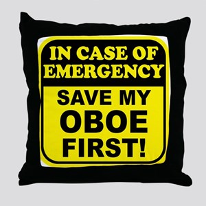 Save My Oboe Throw Pillow