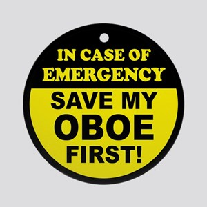 Save My Oboe Ornament (Round)