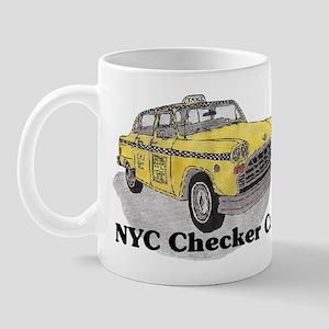 NYC Checker, Taxi Cab Coffee Mug