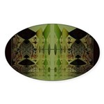 Temple Entrance Collection Oval Sticker
