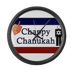 Chappy Chanukah Large Wall Clock