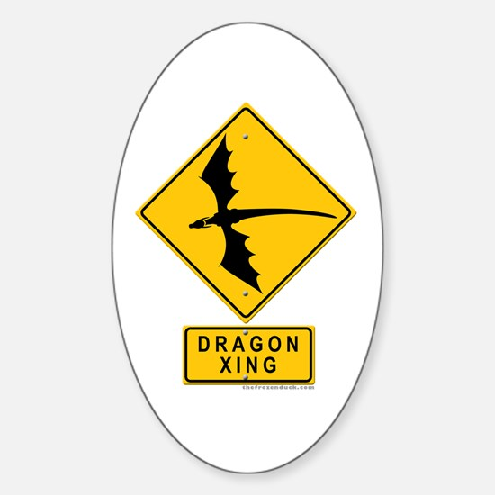 Dragon XING Oval Sticker (10 pk)