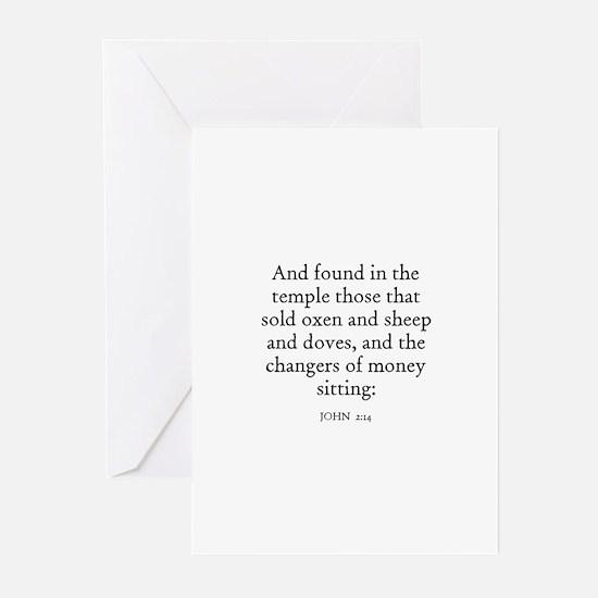 JOHN  2:14 Greeting Cards (Pk of 10)