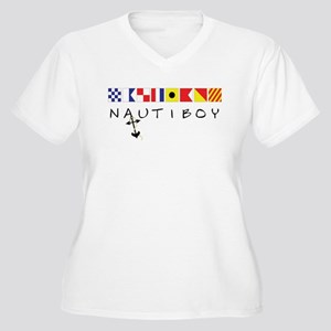 Nautiboy Women's Plus Size V-Neck T-Shirt
