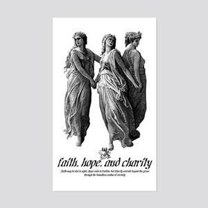 Faith, Hope, and Charity Rectangle Sticker