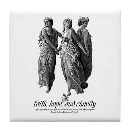 Faith, Hope, And Charity Tile Coaster