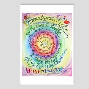 Beauty in Life (Cancer) Postcards (Package of 8)
