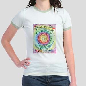 Beauty in Life (Cancer) Jr. Ringer T-Shirt