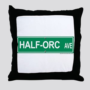 Half-Orc Ave Throw Pillow