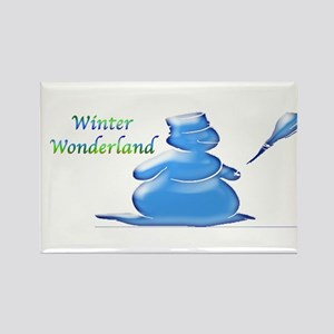 Winter Wonderland Rectangle Magnet