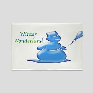 Winter Wonderland Rectangle Magnet