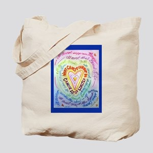 Rainbow Heart Cancer Tote Bag