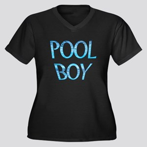 Pool Boy Women's Plus Size V-Neck Dark T-Shirt