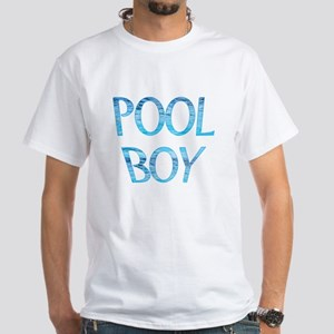 Pool Boy White T-Shirt