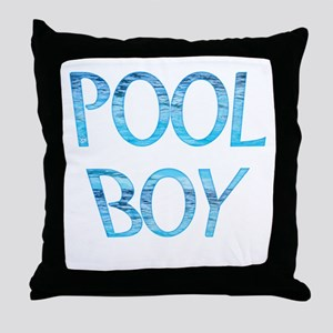 Pool Boy Throw Pillow