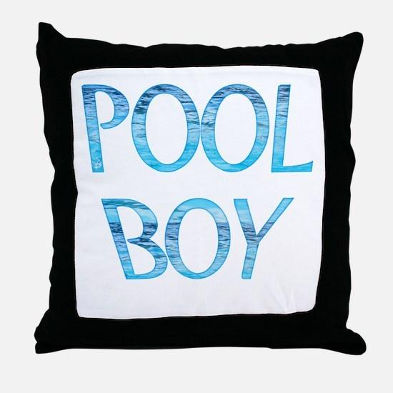 Pool Boy Throw Pillow