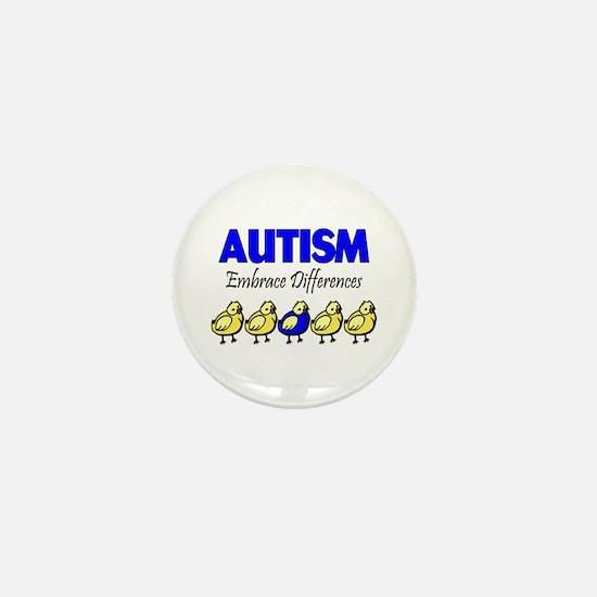Autism, Embrace Differences Mini Button