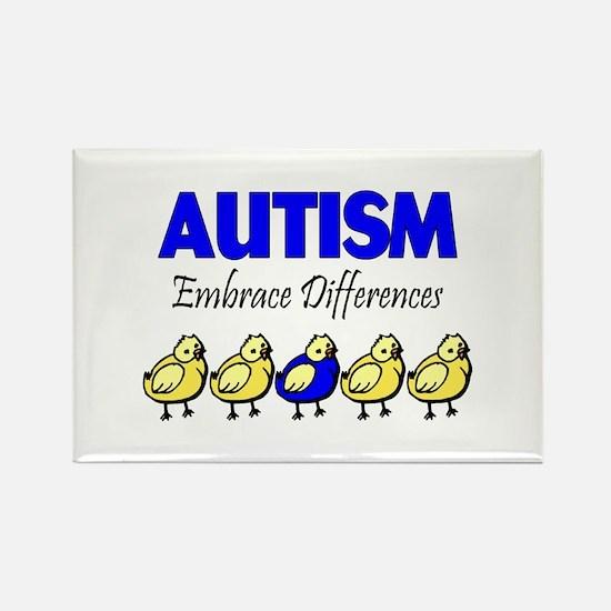 Autism, Embrace Differences Rectangle Magnet