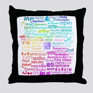 Peace of Many Throw Pillow