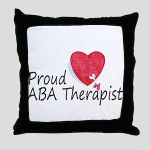 Proud ABA Therapist Throw Pillow
