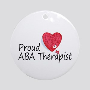 Proud ABA Therapist Ornament (Round)