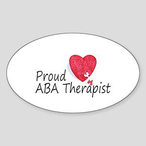 Proud ABA Therapist Oval Sticker