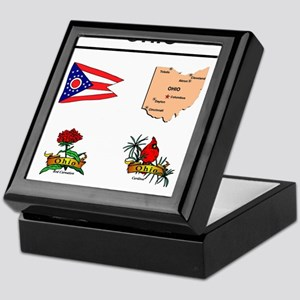 stae of ohio design Keepsake Box