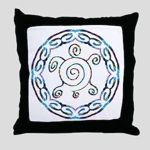 Spiral Turtles Throw Pillow
