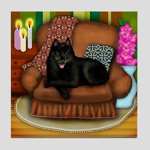 SCHIPPERKE DOG Tile Coaster
