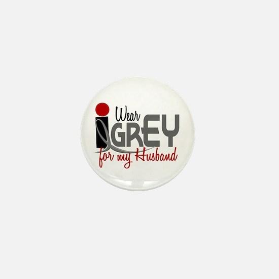 I Wear Grey For My Husband 32 Mini Button