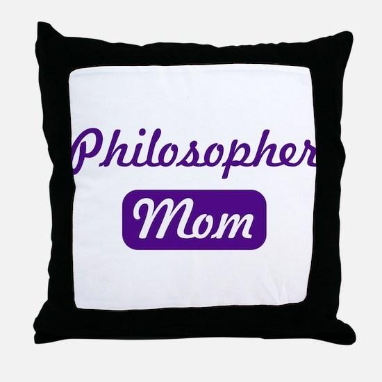 Philosopher mom Throw Pillow