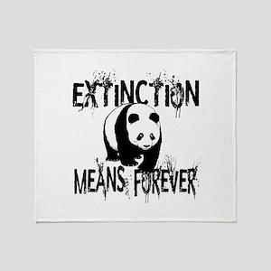 Panda Extinction1 Throw Blanket