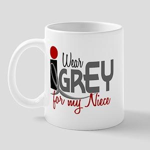 I Wear Grey For My Niece 32 Mug