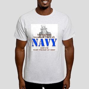 Navy Nephew Ash Grey T-Shirt
