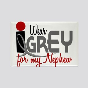 I Wear Grey For My Nephew 32 Rectangle Magnet