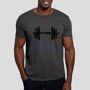 Gym Work In Progress Distressed Dark T-Shirt