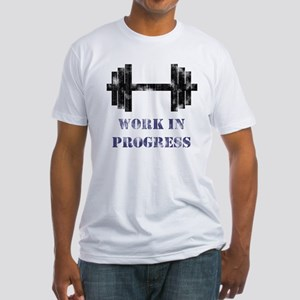 Gym Work In Progress Distressed Fitted T-Shirt